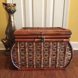Vintage Bamboo Trunk